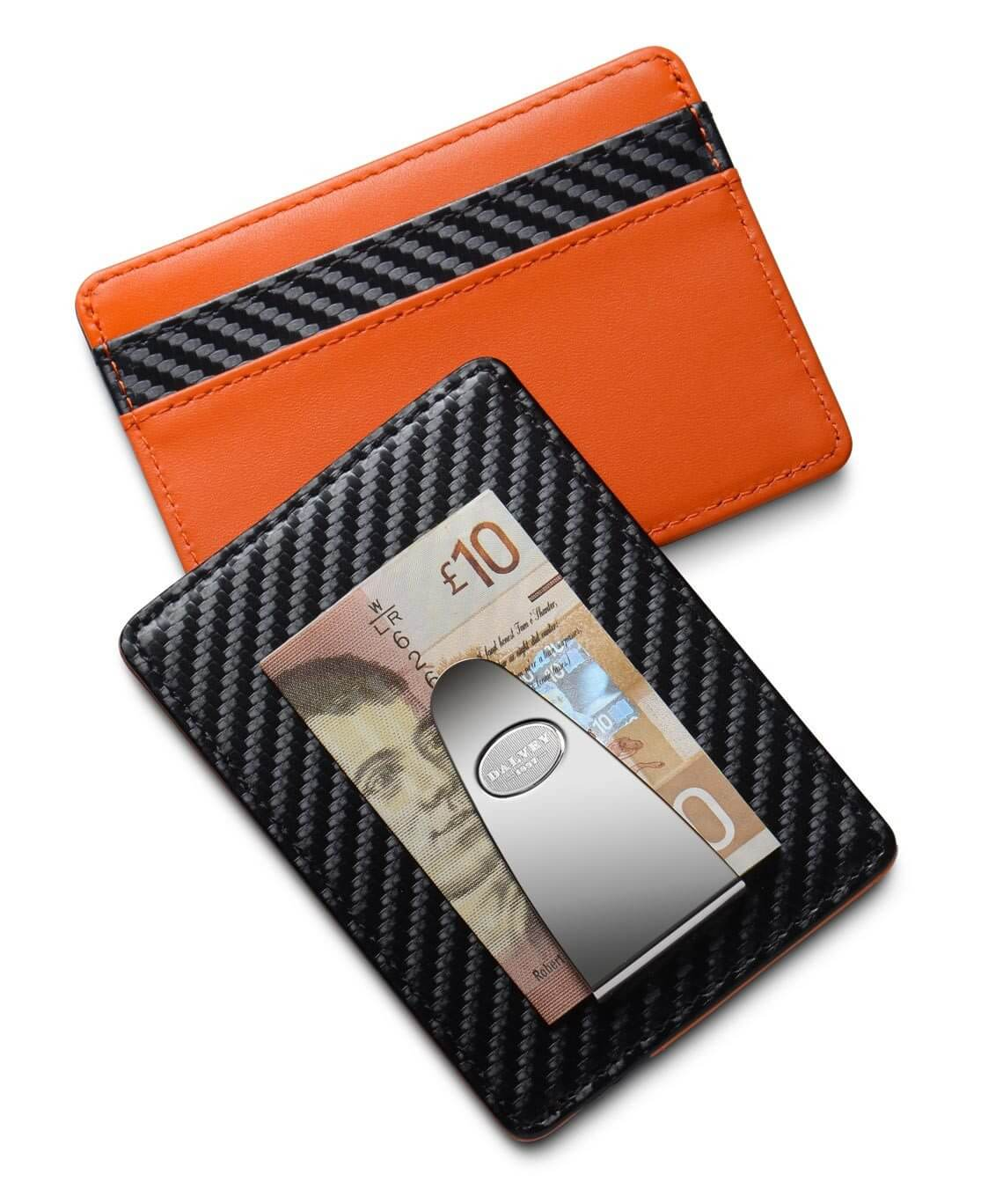 Dress Credit Card & Money Clip - Carbon / Orange