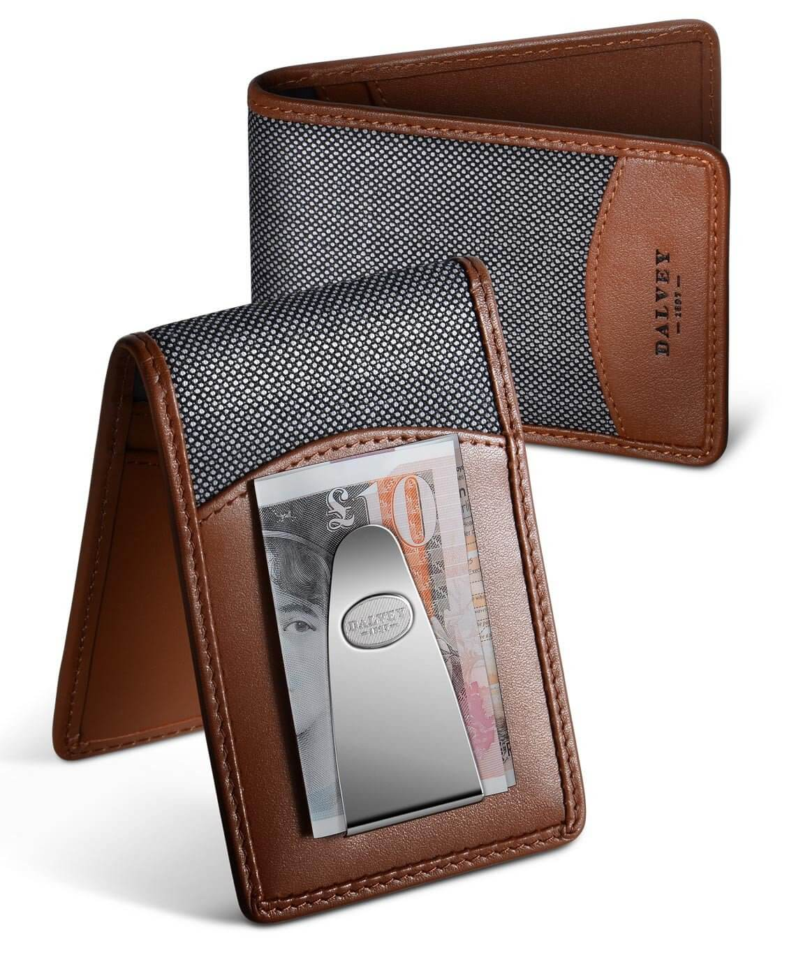 Insignia Wallet - Tan & Grey Birdseye