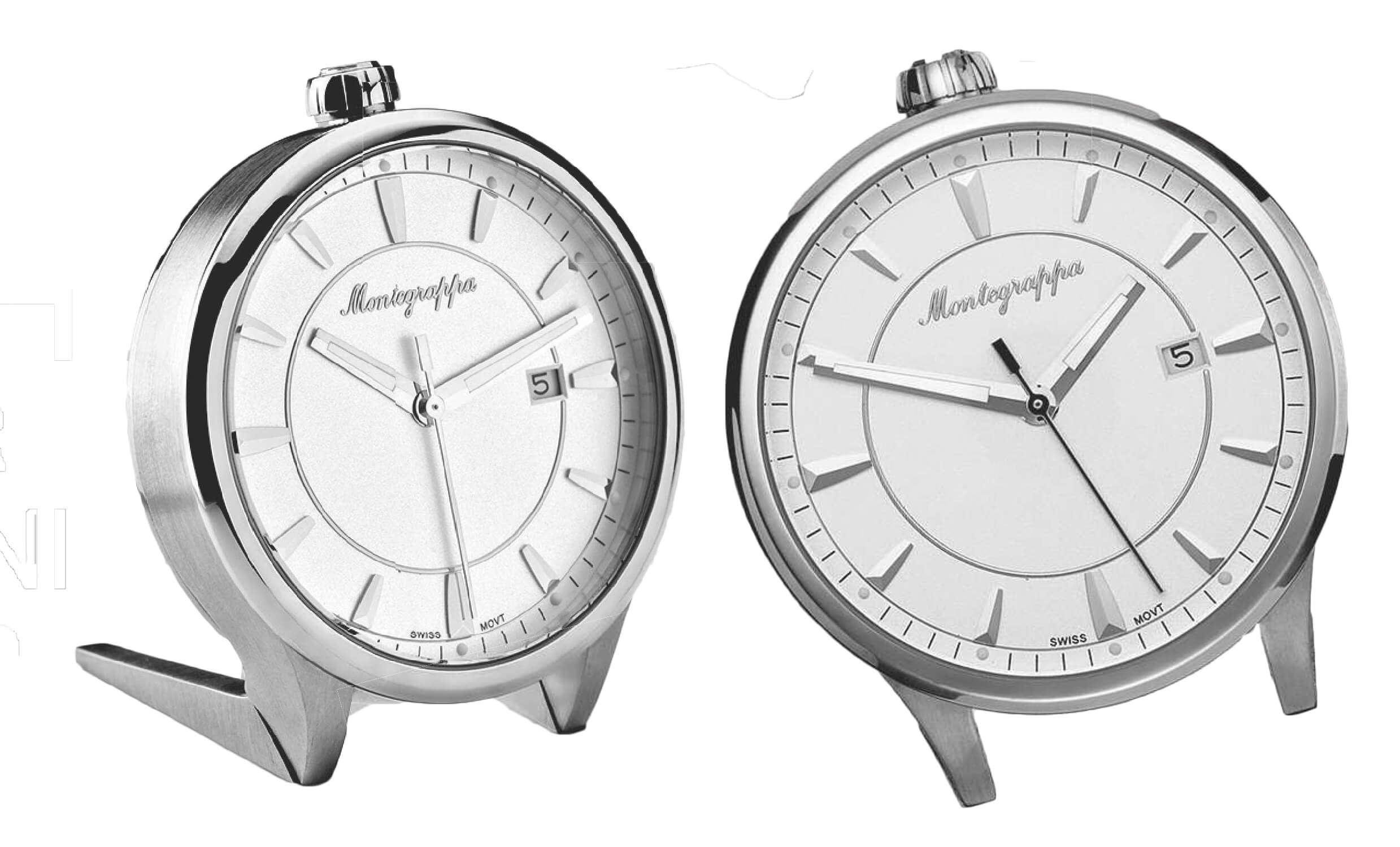 6cb022d2051 Fortuna Table Clock – Stainless Steel Silver White Dial –  350 – IDFOTCIW